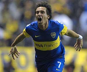 Mouche marca pelo Boca sobre o Flu. Foto AFP